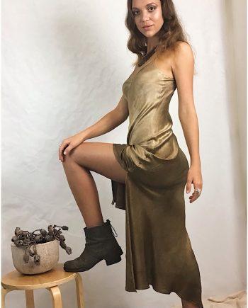 Silk Maxi Dress - size 8
