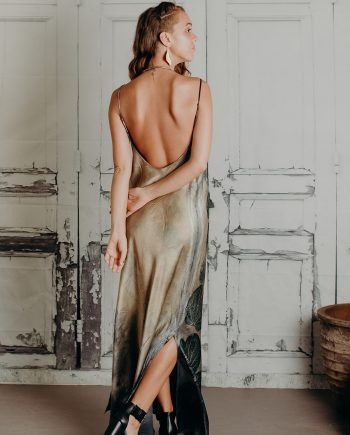 Low back with cowl neck silk maxi dress sizes 8 to 12 click here