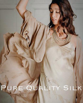 Kimono in silk crepe de chine
